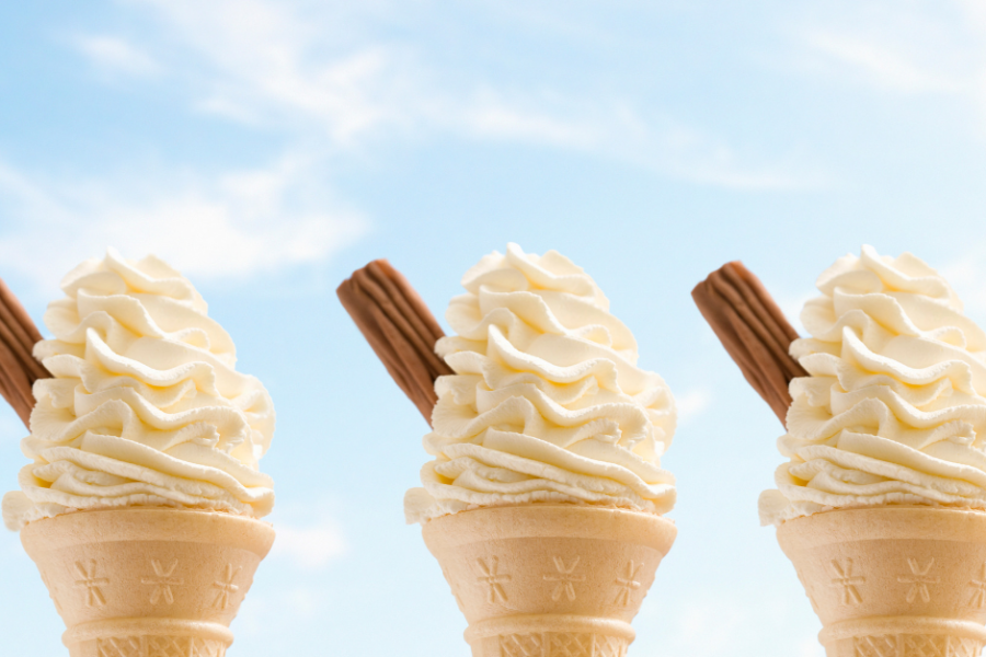 Image of three ice cream cones for the blog post How to Make the Most of Summer in Five Easy Steps