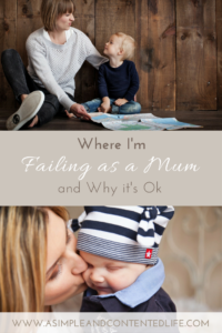 Parenting be HARD. Sometimes I really suck at it! Sometimes I feel like I'm failing as a Mum. But I'm ok with that and here's why.