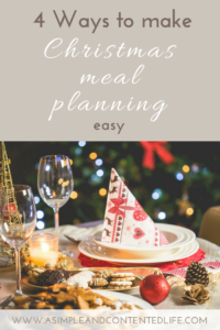 Not sure where to start with your Christmas meal planning? Here's 4 easy to follow steps that'll make creating your Christmas menu a breeze!