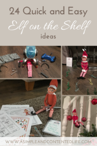 Want some new and fun Elf on the Shelf ideas? Here's 24 that are both quick and easy - one for each day right up until Christmas Eve!