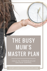 Reduce the overwhelm, take back control and stop having to remember what to do when. Let you diary do the hard work with my FREE Busy Mum's Master Plan. Download your copy now.