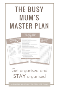 Stop being dictated by your to do list and start calling the shots. Reduce overwhelm and take back control with my FREE Busy Mum's Master Plan!