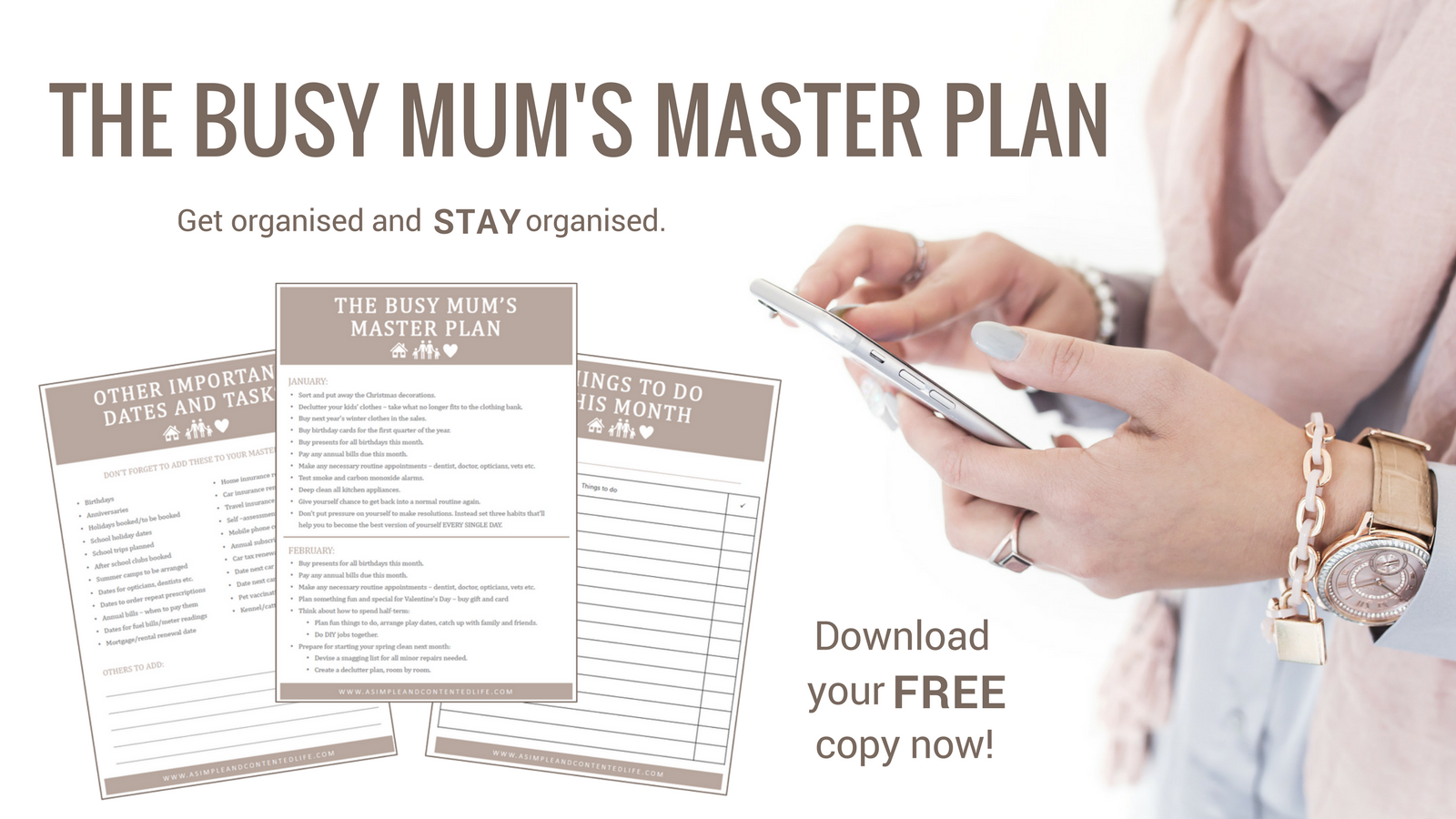 Busy Mum's Master Plan