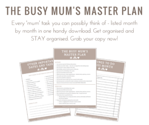 The Busy Mum's Master Plan, how do I stay on top of my finances?