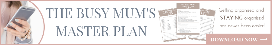 The Busy Mum's MASTER PLAN | Download Now