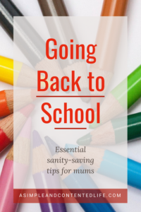 Adjusting to the new school year, earlier mornings, full schedules, homework, and activities can be exhausting! But these essential sanity-saving tips make going back to school a whole lot easier. #backtoschool #sanitysaver #backtoschooltips