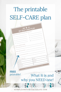 photograph about Printable Self Care Plan identified as Your No cost Printable Self-Treatment Program A Very simple and Pleased Daily life