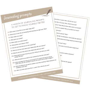 Journaling Prompts to Help you Get to Know Yourself Better | Free Printable