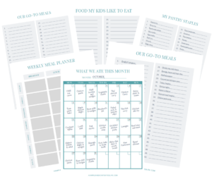 Meal planning printables | Subscribe to download your copy!