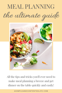 The ULTIMATE Guide to Meal Planning