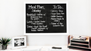 Image of a chalkboard to-do list for the blog post Why You Need to Slow Down if You Want to Accomplish More