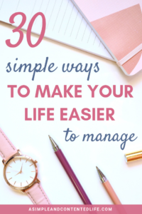 Want to reduce those stress levels and make life easier to manage? In this post, you'll find thirty super simple productivity hacks, habits and daily practices that'll have you banishing chaos and restoring calm and order to your home (and your life) before you know it. Includes a FREE cheatsheet for you to download too!