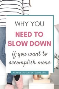 This post is a guest post by Annika from Alles Anni. In it, she's sharing how slowing down helps you to get more done. Discover the power of choosing single-tasking over multi-tasking and free yourself from the pressure of trying to do it all.