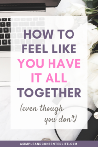 Feeling burnt out or stuck in the vicious cycle of always feeling like you're falling behind? This third instalment of the How to Elevate Your Life series shows you how to feel like you have it all together - even though you don't.