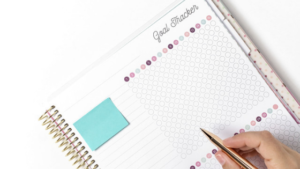 Image of a goal tracker journal for the blog post Why You Should be Setting Intentions as Well as Setting Goals