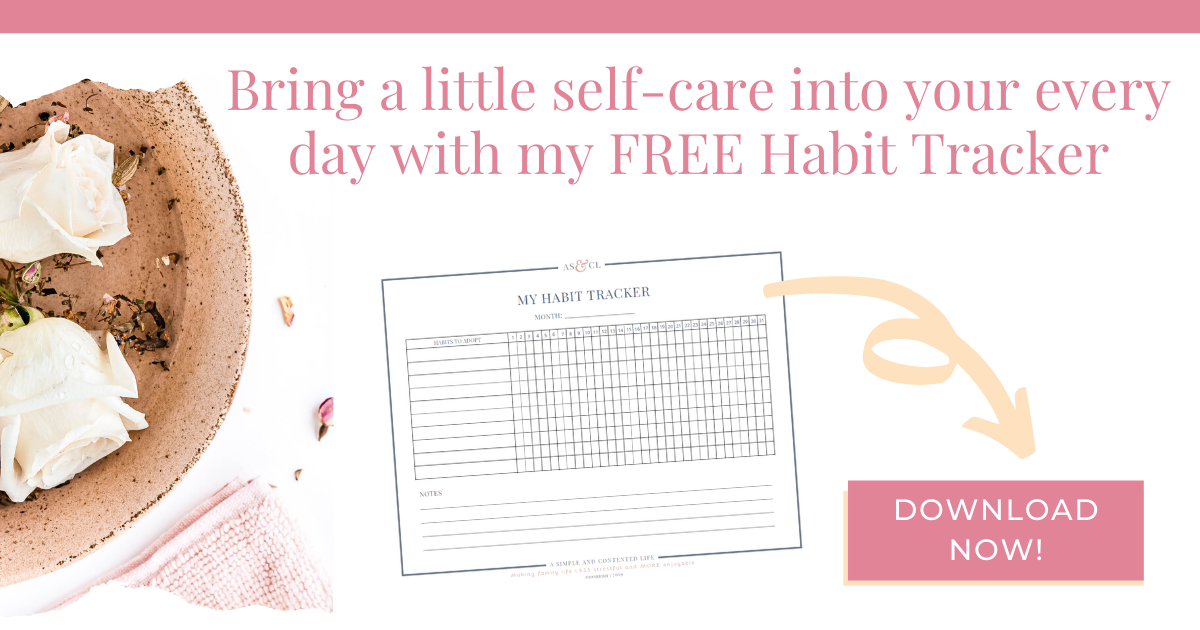 Enter your details to subscribe to my mailing list and download your copy of my FREE Habit Tracker