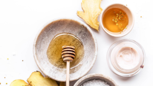 Image of honey in a bowl for the blog post How to Easily Add a Self-Care Routine to Your Day