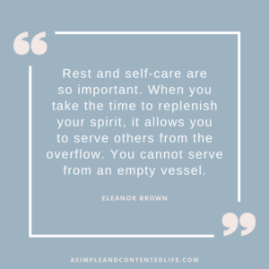 Quote by Eleanor Brown for the blog post Self-Care isn't Selfish
