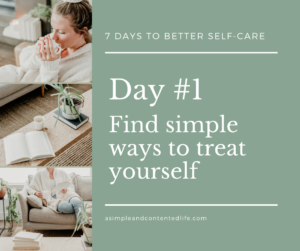 Blog post banner for the self-care challenge: Find simple ways to treat yourself