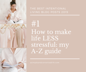 Image banner linking to the blog post: How to make life LESS stressful - My A-Z guide