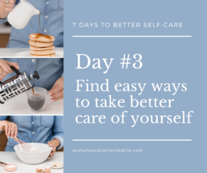 Blog post banner for the self-care challenge: Find easy ways to take better care of yourself