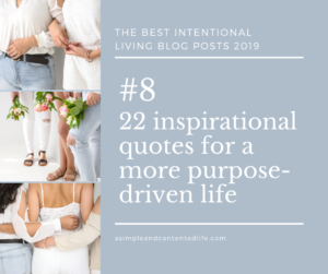 Image banner linking to the blog post: 22 inspirational quotes for a more purpose-driven life