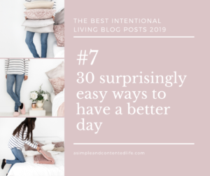 Image banner linking to the blog post: 30 surprisingly easy ways to have a better day
