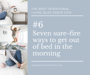 Image banner linking to the blog post: Seven sure-fire ways to get out bed in the morning