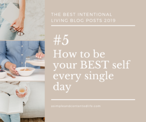 Image banner linking to the blog post: How to be your BEST self every single day