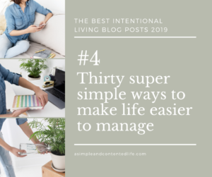 Image banner linking to the blog post: Thirty super simple ways to make life easier to manage