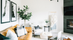 Image of a living room for the blog post What I Learned from my 30-Day Minimalism Challenge