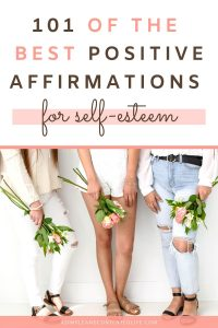 Want to feel more confident, develop a greater sense of self-worth or believe in yourself more? Positive affirmations can help! In this post, I'm sharing my favourite positive affirmations for self-esteem to help you boost those confidence levels starting today.