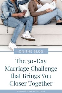 Want to focus more on your marriage? Currently facing challenges in your marriage or want to strengthen your relationship with your husband so that you can build a better marriage? This fun and easy 30-day marriage challenge is the way to do it!