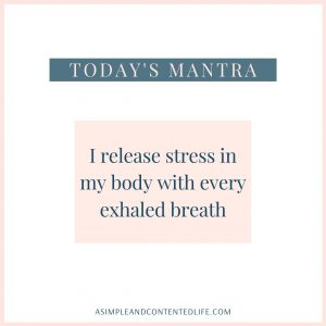 Positive affirmation for health and wellness: I release stress in my body with every exhaled breath.