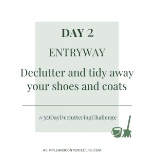 Decluttering Challenge Day 2 - Entryway