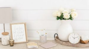 Image of a farmhouse country sideboard for the blog post The 30-Day Decluttering Challenge
