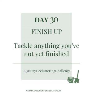 Day 30 - Finish Up