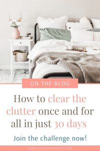 Want to clear the clutter once and for all? This decluttering challenge is the way to do it! Not only will it help you purge your home of the things you no longer need, but you'll get it done in just 30 days too. Declutter your entire home, spring clean your home and stop the clutter from coming back. Grab the free decluttering printable too!