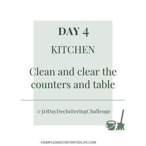 Spring Cleaning and Decluttering Challenge - Day 4