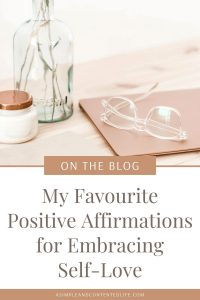 Wish you loved yourself more? Find it hard to like who you see in the mirror? I've been there too. And so, in this post, I'm sharing the positive affirmations for self-love that I use to help me embrace self-love and increase my sense of self-worth so that you can use them too.