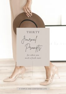 Thirty Journal Prompts for When You Want a Fresh Start