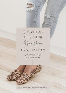 Questions for Your New-Year Evaluation