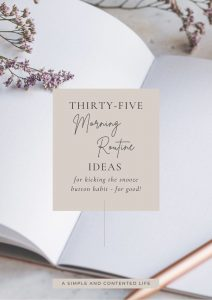 Thirty-Five Morning Routine Ideas